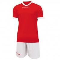 Givova Kit Revolution цвет: красно-белый