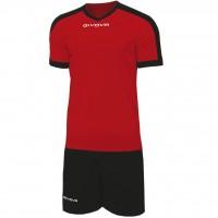 Givova Kit Revolution цвет: красно-черный